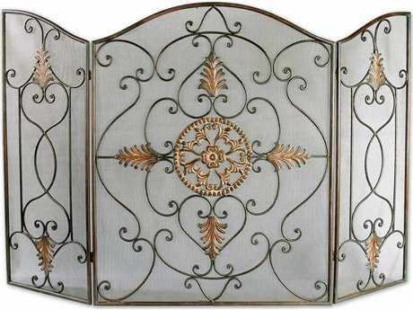 Uttermost Egan Wrought Iron Fireplace Screen
