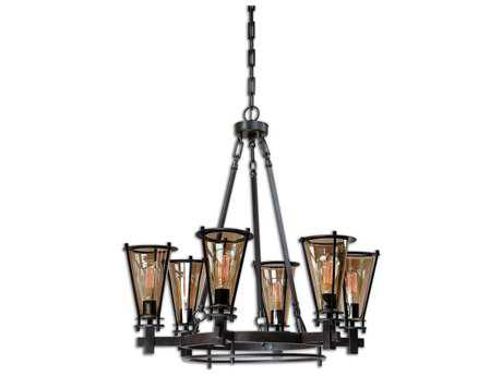Uttermost Frisco Metal Six-Light 32'' Wide Chandelier