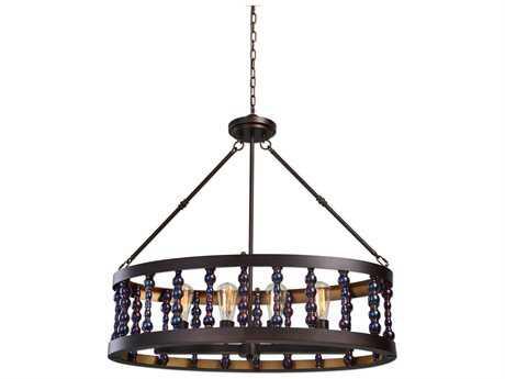 Uttermost Mandrino Oil Rubbed Bronze Four-Light Oval Chandelier