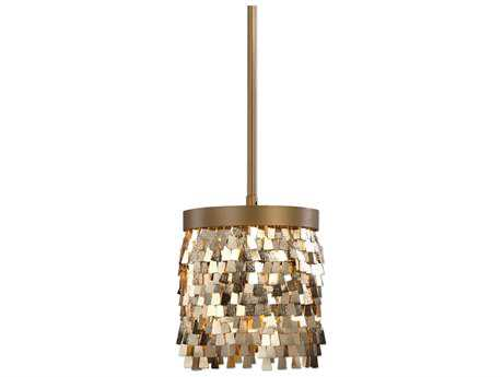 Uttermost Tillie Textured Gold 8'' Wide Pendant
