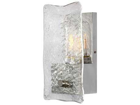 Uttermost Cheminee Brushed Steel & Textured Glass Wall Sconce