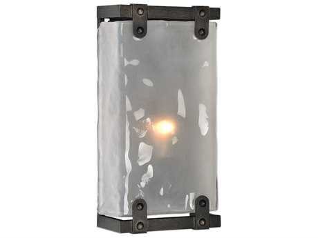 Uttermost Brattleboro Matte Black with Antique Brass Distressing Wall Sconce