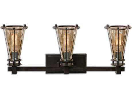 Uttermost Frisco Rustic Three-Light Vanity Strip