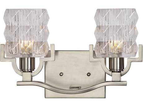 Uttermost Copeman Brushed Nickel Two-Light Vanity Light