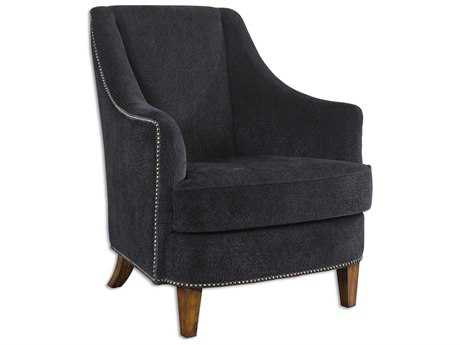 Uttermost Nala Midnight Black Accent Chair