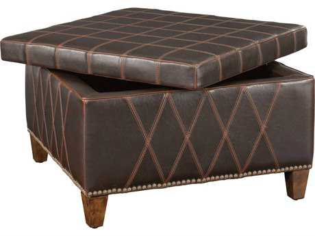 Uttermost Wattley Double Stitched Storage Ottoman