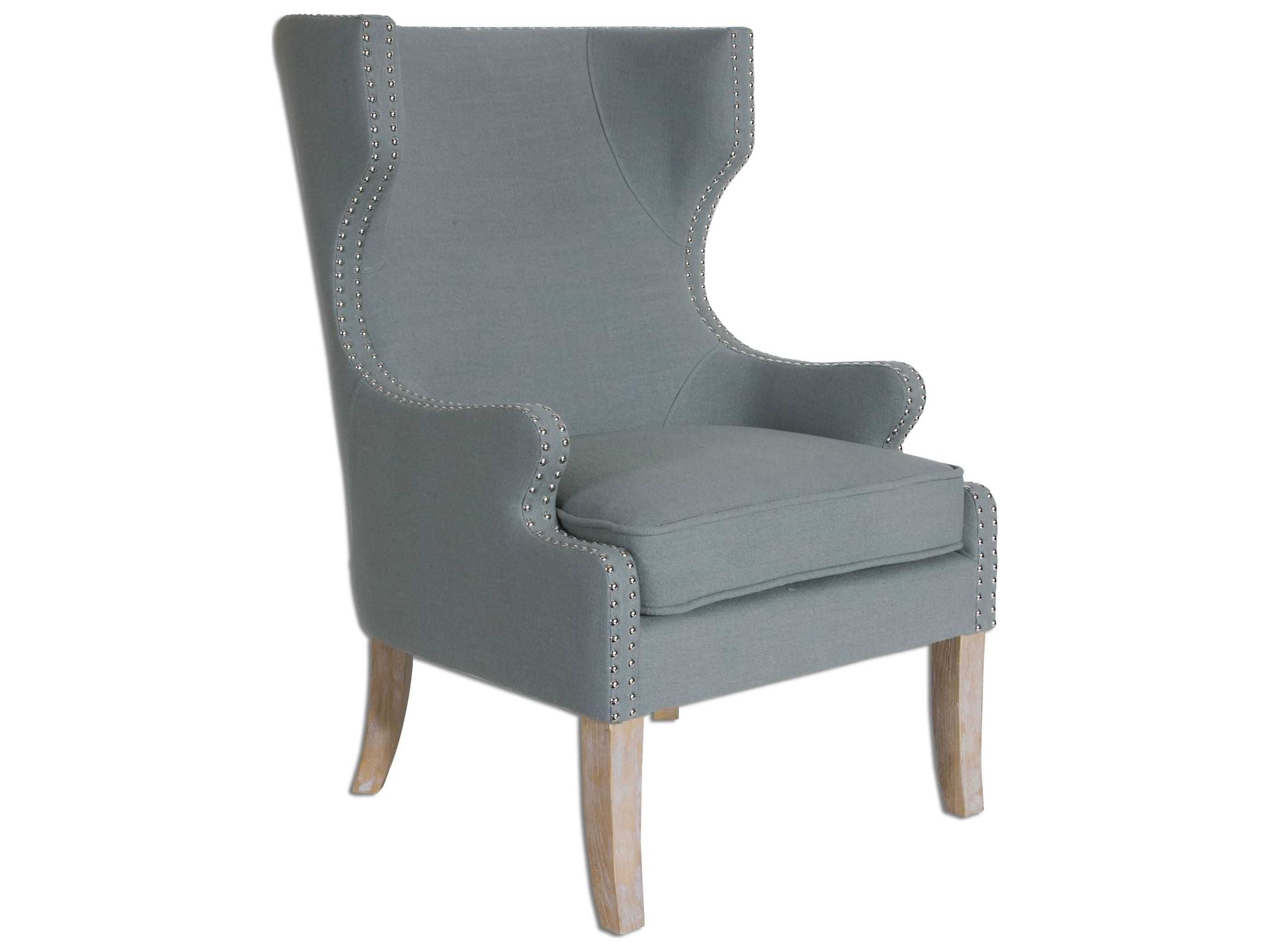 uttermost graycie high back wing accent chair ut23136. Black Bedroom Furniture Sets. Home Design Ideas