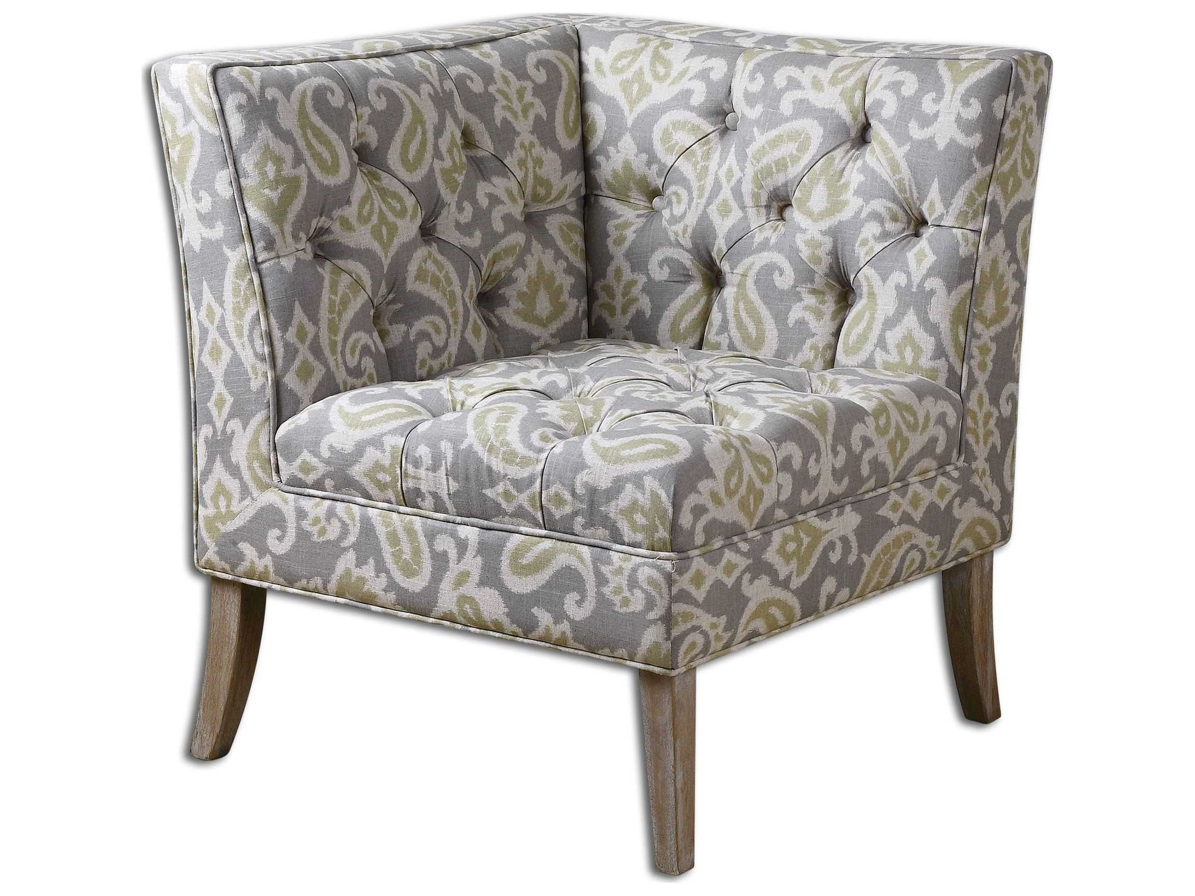 Uttermost Meliso Tufted Corner Accent Chair