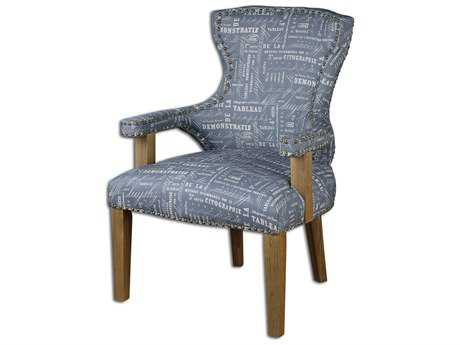 Uttermost Citographie Gray Linen Accent Chair