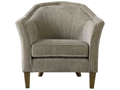 Uttermost Luca White Gray Tan & Brown Accent Chair