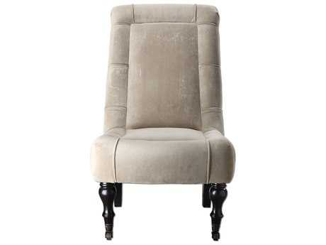 Uttermost Lizina Parsons Beige Armless Accent Chair