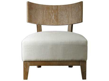 Uttermost Gaige Oak White Armless Accent Chair