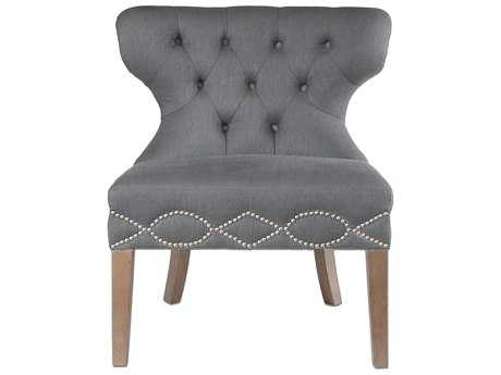 Uttermost Shafira Gray Armless Accent Chair