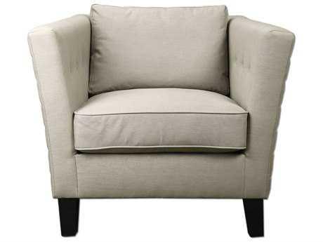 Uttermost Izaak Modern Beige Arm Accent Chair