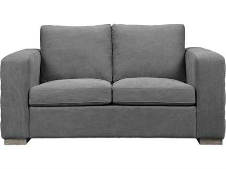 Uttermost Inari Stonewashed Gray Loveseat