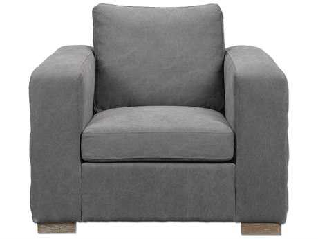 Uttermost Inari Stonewashed Gray Club Chair