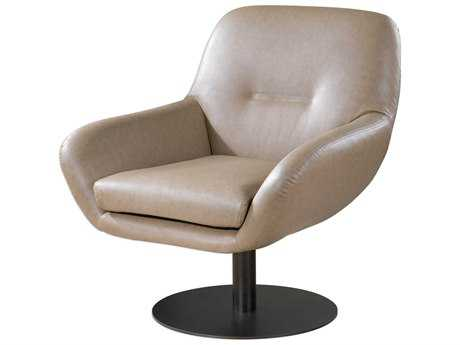 Uttermost Scotlyn Tan Swivel Accent Chair