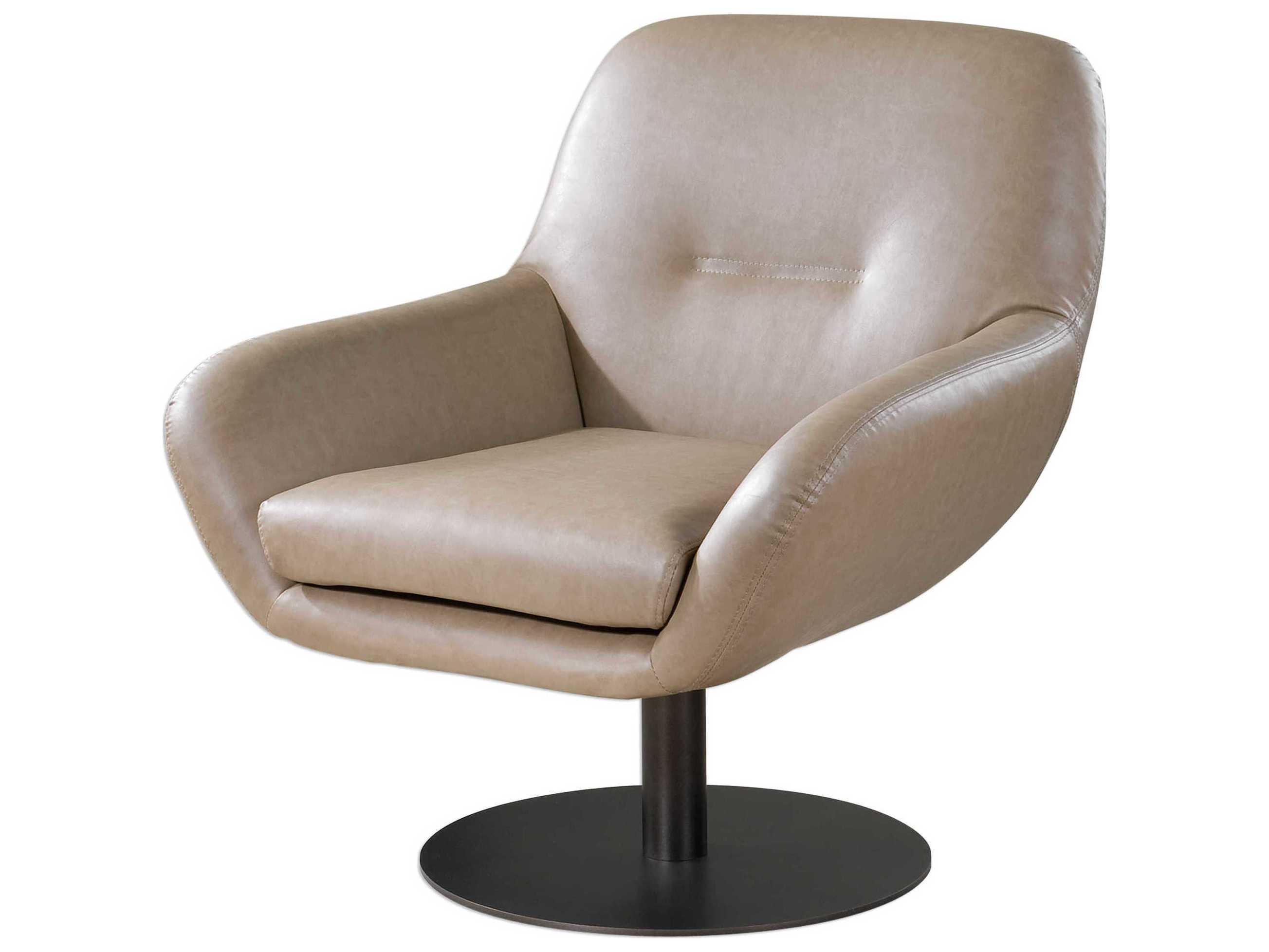 Uttermost Scotlyn Tan Swivel Accent Chair Ut23266