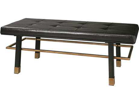 Uttermost Hennesy Rich Brown Bronze Iron & Antique Gold Bench