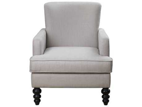 Uttermost Flannan White Accent Chair