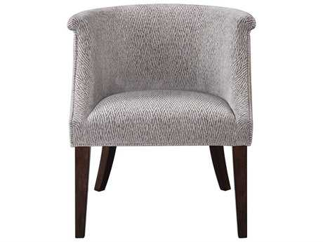 Uttermost Arthure Pewter Flame Accent Chair