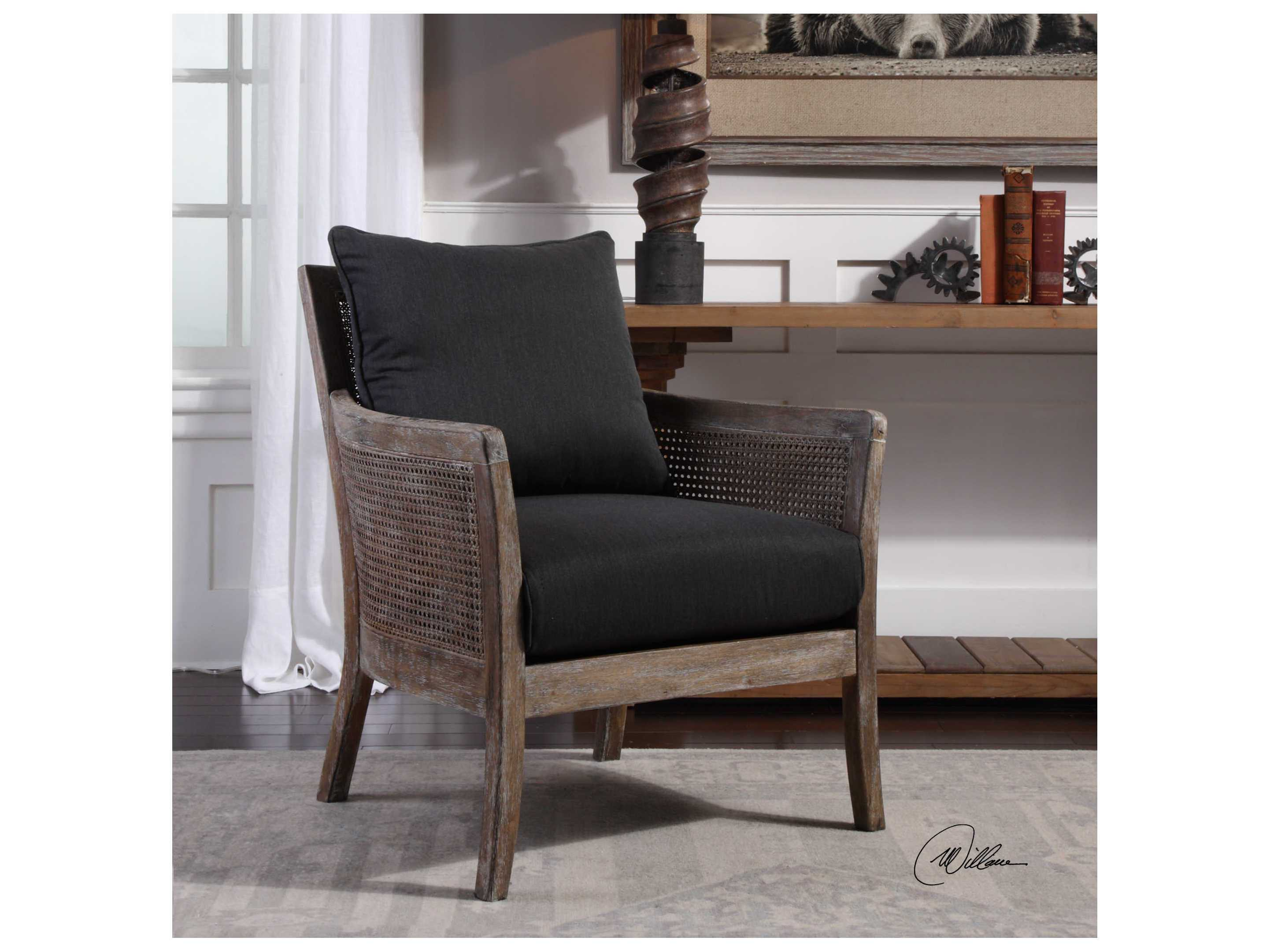 Uttermost Encore Dark Gray Accent Chair