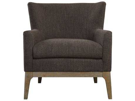 Uttermost Arzo Dark Gray Accent Chair