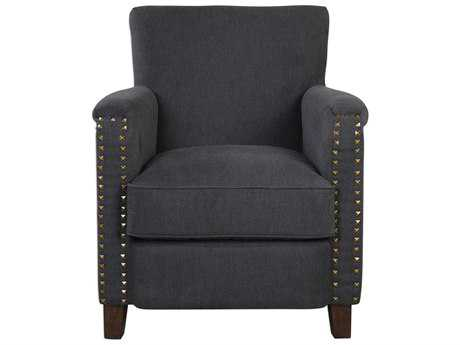 Uttermost Finchly Deep Gray Accent Chair