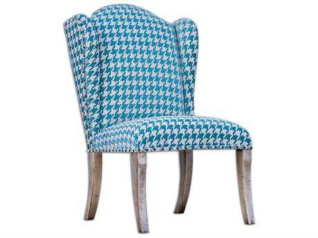 Uttermost Winesett Blue Armless Accent Chair