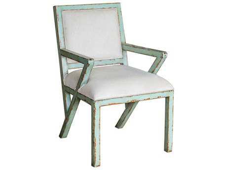 Uttermost Zenia Seaglass Green Accent Chair