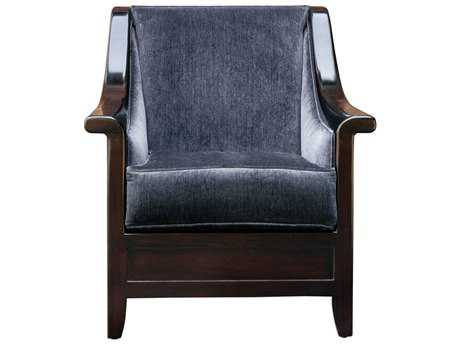 Uttermost Bowie Steel Blue & Hickory Accent Chair