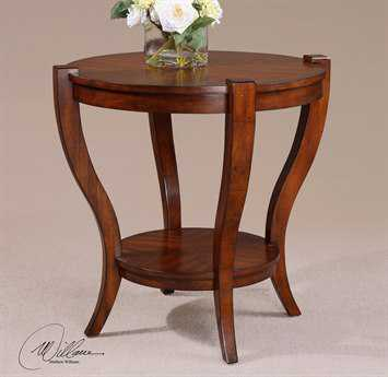 Uttermost bergman 30 round end table ut24142 for Abelard decoration