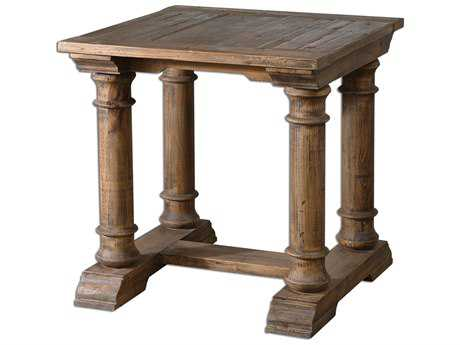 Uttermost Saturia 28 Square Wooden End Table