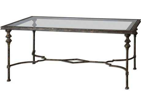 Uttermost Quillon 51.25 x 30 Rectangular Glass Coffee Table