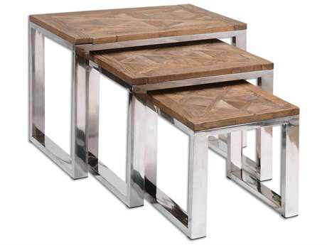 Uttermost Hesperos 27.5 x 21.6 Rectangular Nesting Tables (Set of 3)