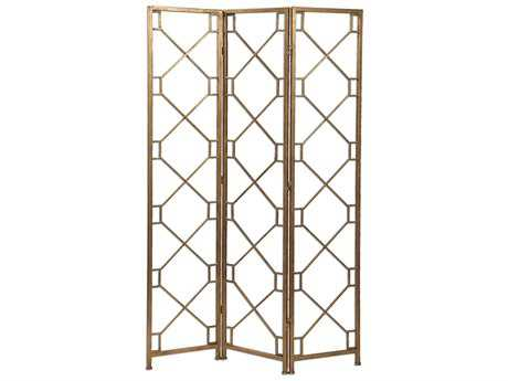 Uttermost Lakaya Three Panel Gold Screen