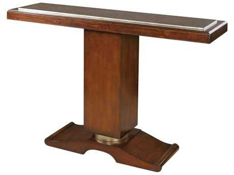 Uttermost Taniel Dark Cherry & Antique Golden Bronze 52''L x 14''W Rectangular Console Table