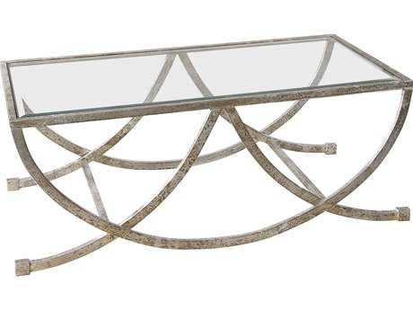 Uttermost Carolyn Kinder Marta Antiqued Silver Coffee Table