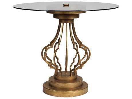 Uttermost Maya Gold Leaf 36' Round Foyer Table
