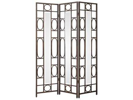 Uttermost Keagan Three Panel Forged Iron Screen