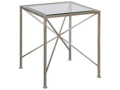 Uttermost Silvana Antique Silver 16'' Square Accent Table