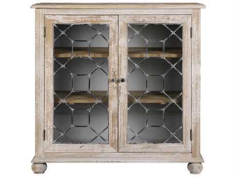 Uttermost Jim Parsons Earline Antique White Accent Cabinet
