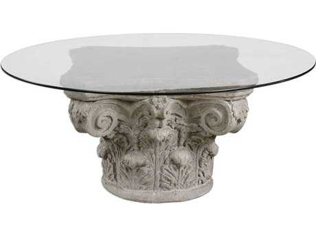 Uttermost Corinthian Aged Stone 23.5'' Round Coffee Table