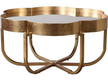 Uttermost Cydney Antiqued Gold Leaf 39'' Round Coffee Table