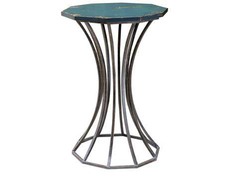 Uttermost Vika Navy Blue 18' Round Accent Table