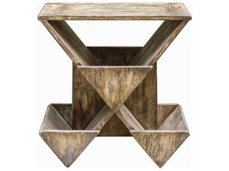 Uttermost Enzo Driftwood 26'' x 18.66'' Rectangular Accent Table