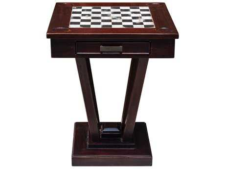 Uttermost Fineas Mahogany Wood Game Table