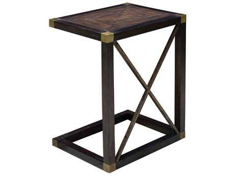 Uttermost Kendi Dusty Black 20'' x 16.2'' Rectangular End Table