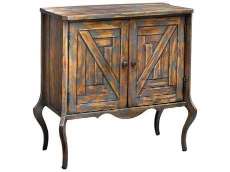 Uttermost Holbrook Soft Gray with Natural Hardwood Accent Chest
