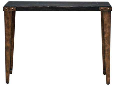 Uttermost Atilo Worn Black & Antique Copper 40''L x 14''W Rectangular Console Table